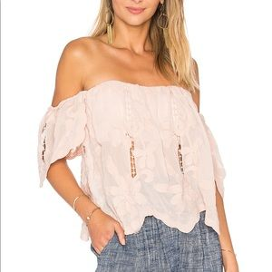 Lovers + Friends Pink Life's a Beach Top size M